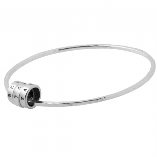 Personalised Silver Rings Bangle